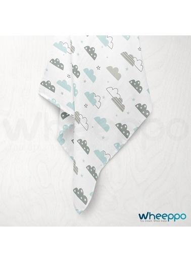 Wheeppo Mint Bulut  Müslin Örtü  120*120 Cm Renkli